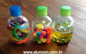 garrafa sensorial para bebês